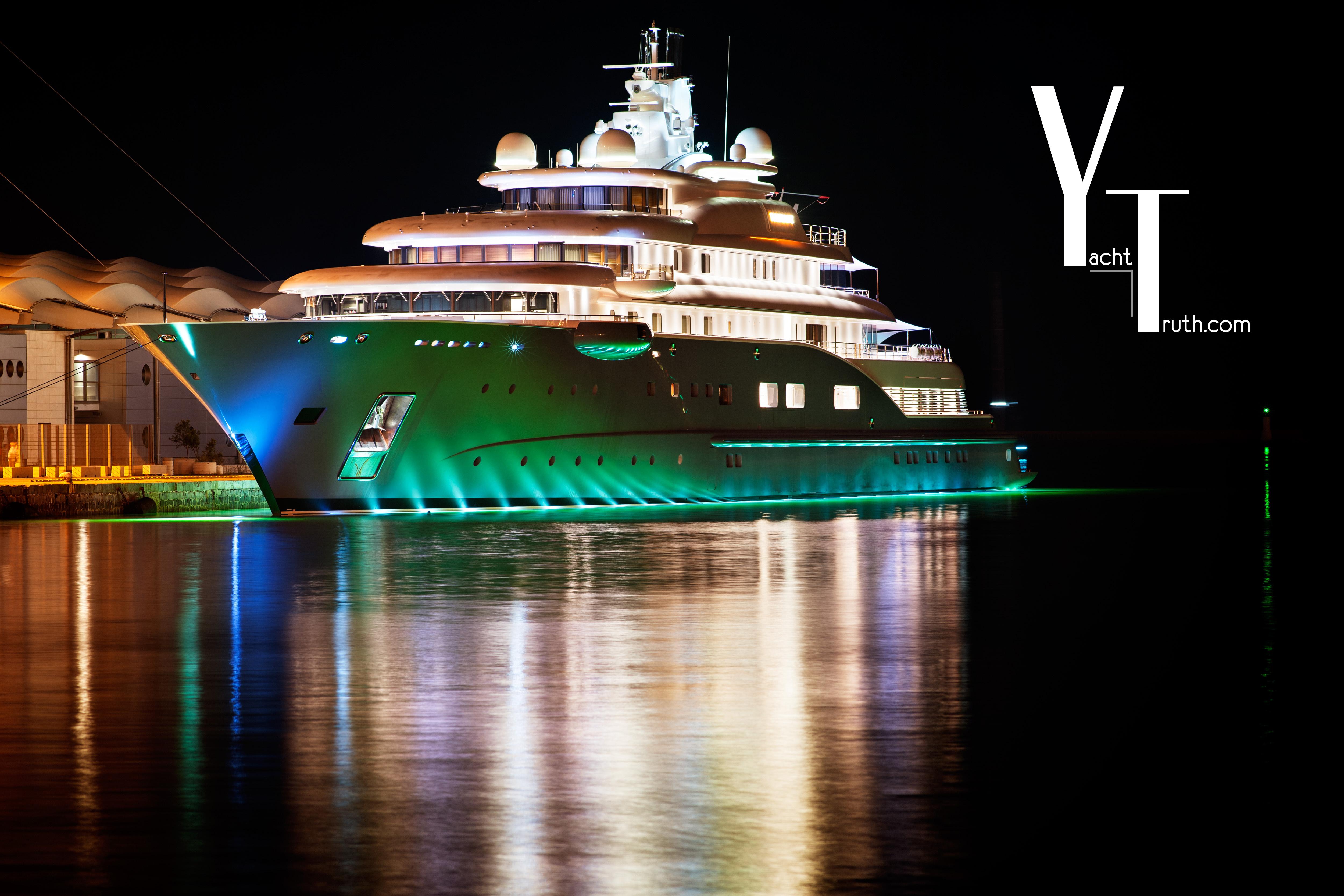 Luxury Yacht Night